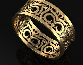 3D print model Floral Band Ring size 54