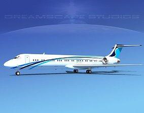 McDonnell Douglas MD-87 Corporate 8 3D