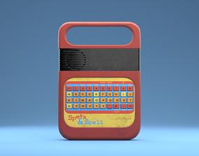 Speak and Spell toy 3D model