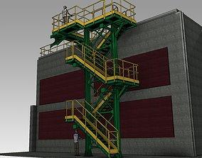 Industrial Ladder 3D model