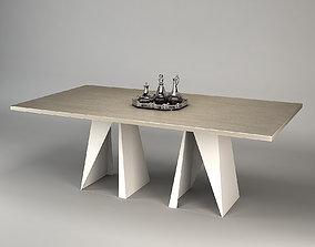 3D model RECTANGLE DINING TABLE Baker