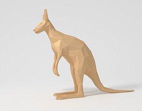 3D asset Low Poly Cartoon Kangaroo