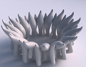 3D print model Bowl two layered flower streched top