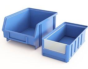Plastic Storage Bin 03 3D model