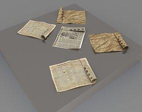 newspaper 3D model bookstore