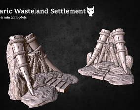 Barbaric Wasteland Settlement Printable Terrain Scatter