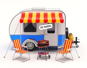 3D Camper Scene