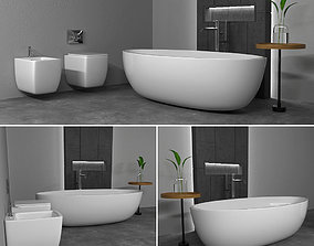3D Furniture bathroom flower