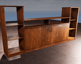 TV stand 3D model Element tables Game ready model low-poly