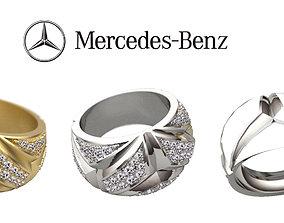 3D print model ring mercedes