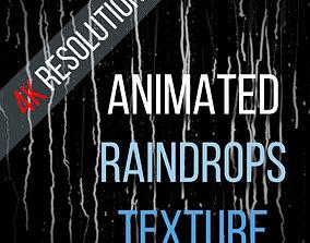 3D model water Animated raindrops 4K