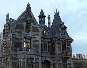 mansion 3D model Abandoned Mansion
