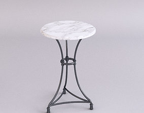 3D model Marble top table - Small