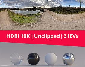 HDRi Landscape River and Clouds 3D model