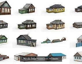 Russian village houses pack 3D model