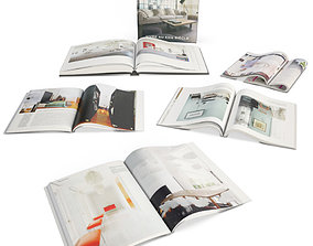Opened Books And Magazines 3D