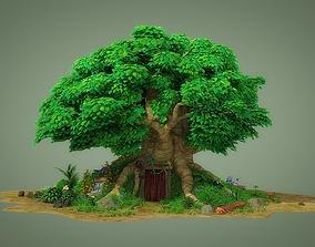3D fantastic Cartoon Tree House