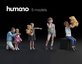 Humano 5-Pack - PEOPLE - CASUAL - HOME - 5x 3d models