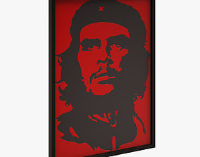 bedroom 3D asset Che Guevara Wall Picture