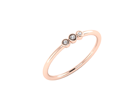 Simple ring model 3 stone