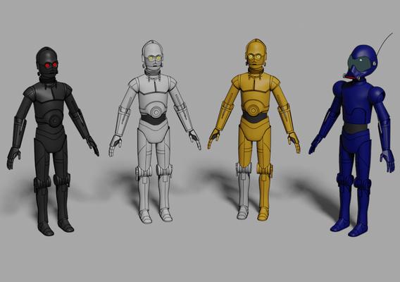 Protocol Droids - Star Wars - Fan Art