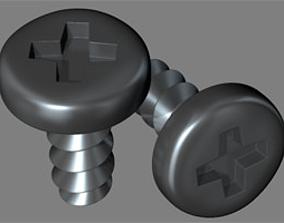 screw 3D model industrial