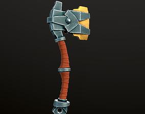 Stylized Axe 02 3D model