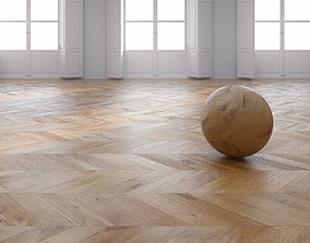 3D model Oak Chevron floor