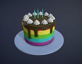 Birthday Cake game-ready asset VR / AR ready