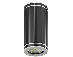 lamp Black Cylindrical Light 3D Model