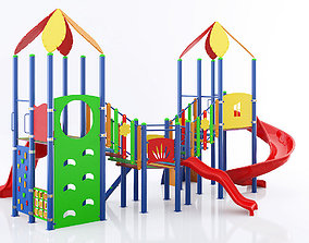 kids child playground 3d model 4