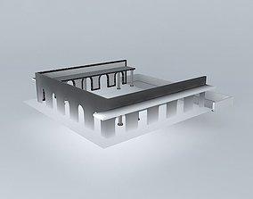 3D model Roman Swimming Pool