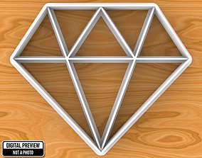 3D printable model Diamond Cookie Cutter