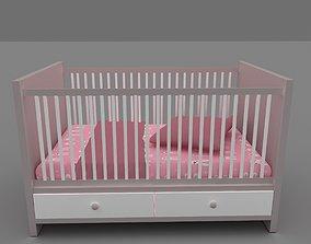 baby crib infant 3D model