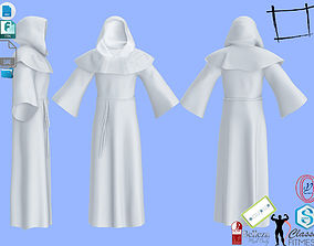 3D model Men Full Hooded Monk Outfit