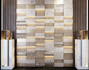 decorative wall with stands for decor PN29 3D model