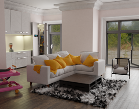 interior scene made with blender 3D