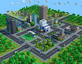 police low-poly Cartoon City Low Poly 3d model