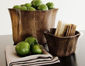 3D model Kitchen set 2 Green Apples