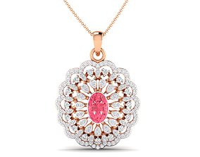 Women pendant 3dm stl render detail jewel necklace