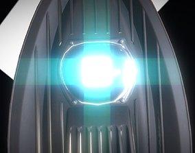 Sci-Fi Street Light 14 version 3 3m with pole 3 3D model