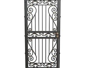 3D model Wrought iron gate 11