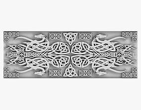 3D model baroque Celtic Ornament