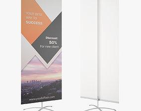 Banner Stand Easy Flex 3D Model