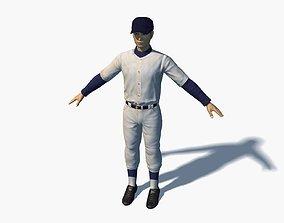 3D Baseball Player 001