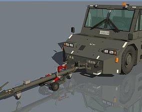 3D JASDF 20tons Towingcar and Towbar