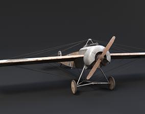 3D asset Fokker E III WW1 Airplane