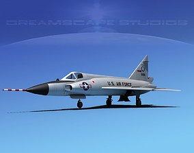 3D Convair F-102 Delta Dagger TEX ANG