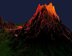 3D model Lava Volcano Eruption