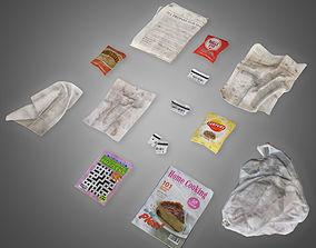 3D asset Trash Set 2 - PBR Game Ready